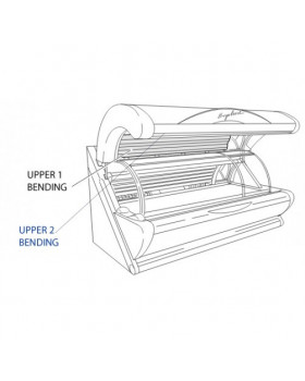 Acrylic sheet for Ergoline 450 UPPER 1 BENDING